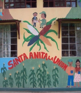 This closeup of one of the main buildings at Sant'Anita was taken from an article about Guatemalan activist and Desgua co-founder Willy Barreno
